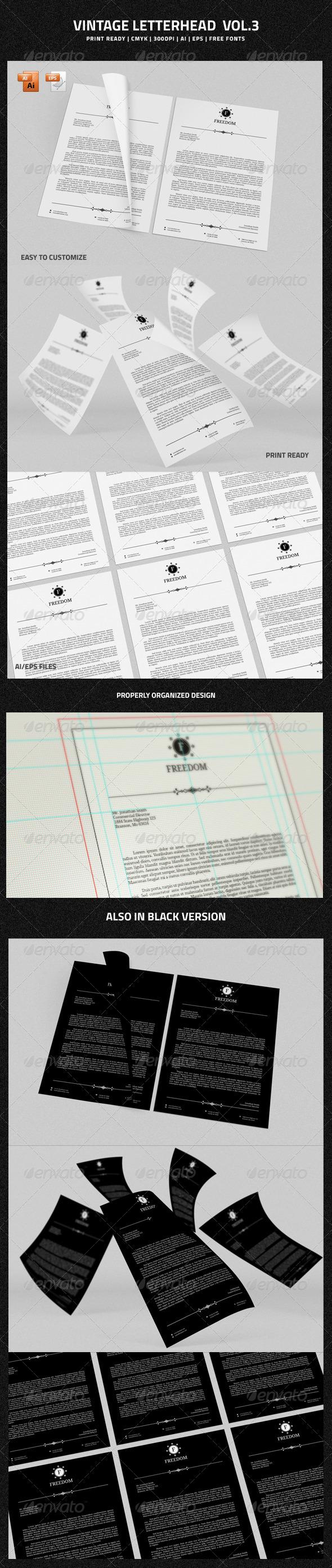 GraphicRiver Vintage Letterhead vol.3 6659241