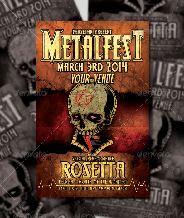 GraphicRiver Metalfest Flyer Design 6668738