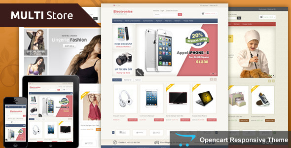 Multi Store - Opencart Responsive Theme - OpenCart eCommerce