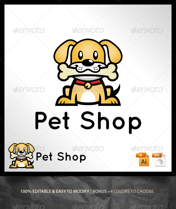 GraphicRiver Pet Shop Logo 6668872