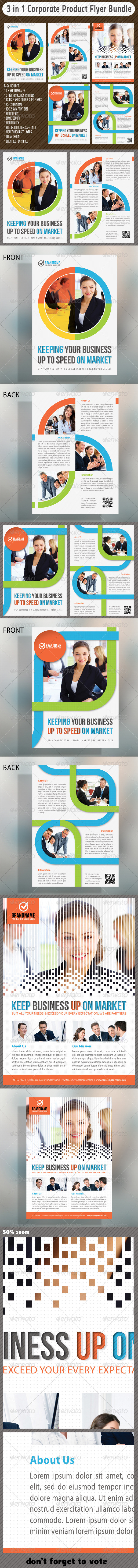 GraphicRiver 3 in 1 Corporate Flyers Bundle 03 6669011