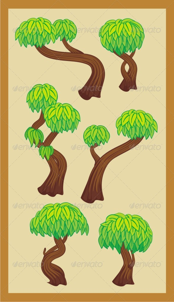 GraphicRiver Trees Set 6669014