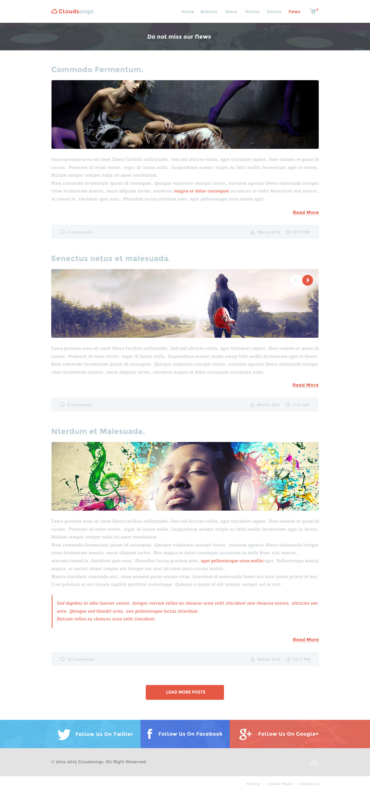 Cloudsongs - Music E-Commerce Template