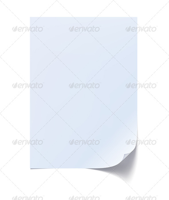 GraphicRiver Blank Sheet of Paper with Curl 6669091