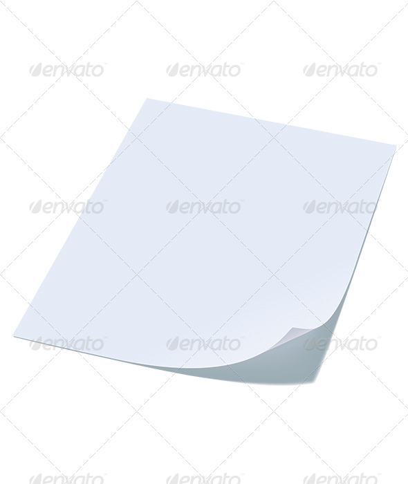 GraphicRiver Blank Sheet of Paper with Curl 6669228