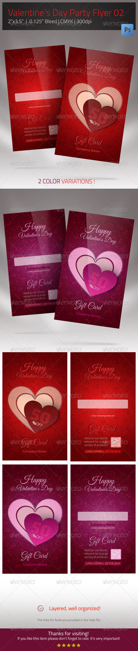 GraphicRiver Gift Card for Valentines Day 6668723