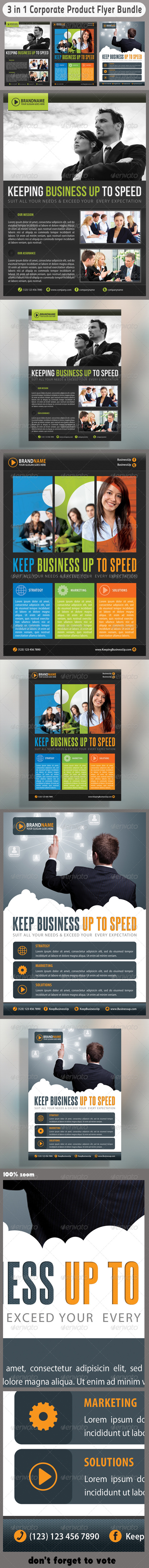 GraphicRiver 3 in 1 Corporate Flyers Bundle 05 6669396