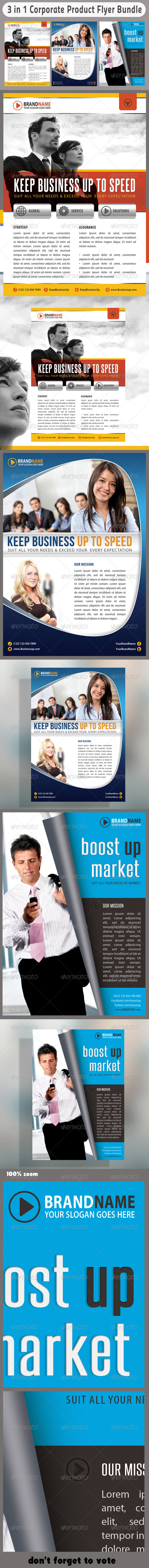 GraphicRiver 3 in 1 Corporate Flyers Bundle 06 6669722