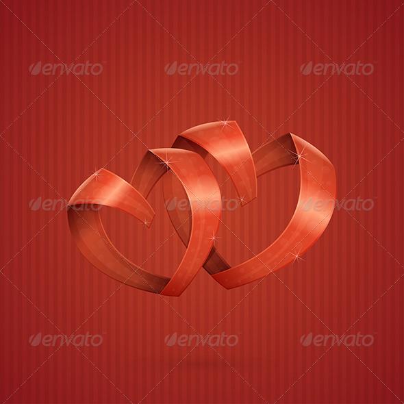 GraphicRiver Hearts Ribbon 6669730