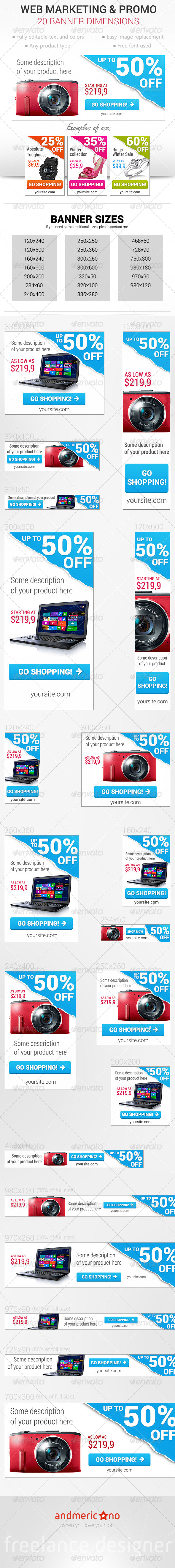 GraphicRiver Web Marketing Banners 6665300