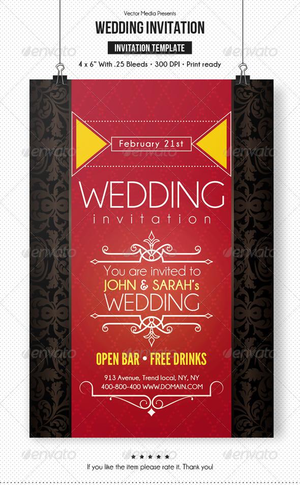 GraphicRiver Wedding Invitation 6670412