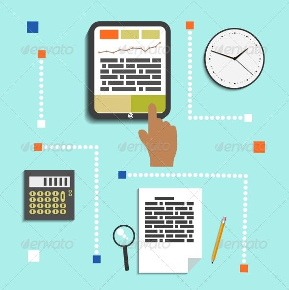 GraphicRiver Set of Office and Business Work Elements 6670641