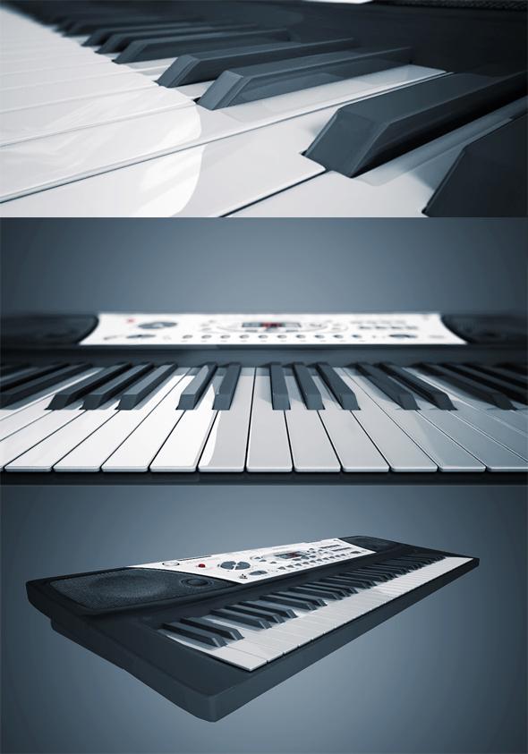 Musical Keyboard - 3DOcean Item for Sale
