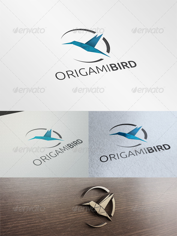 GraphicRiver Origami Bird Logo 6669941