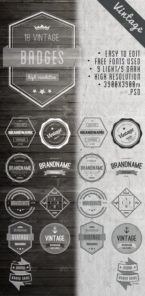 GraphicRiver Vintage Badges 6648163
