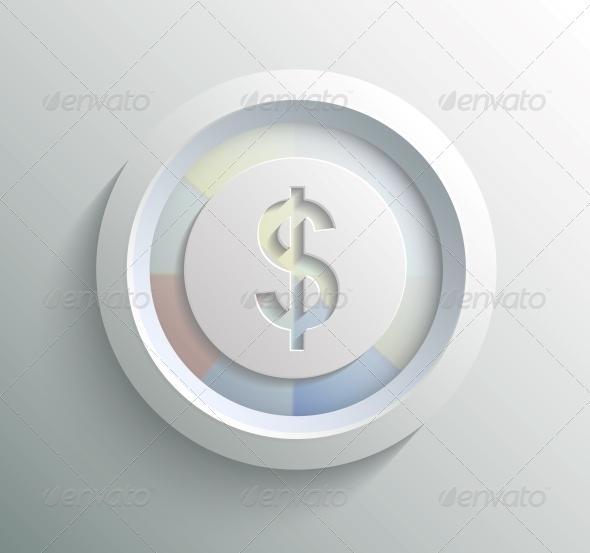 GraphicRiver App Icon Metal Dollar with Shadow 6670734