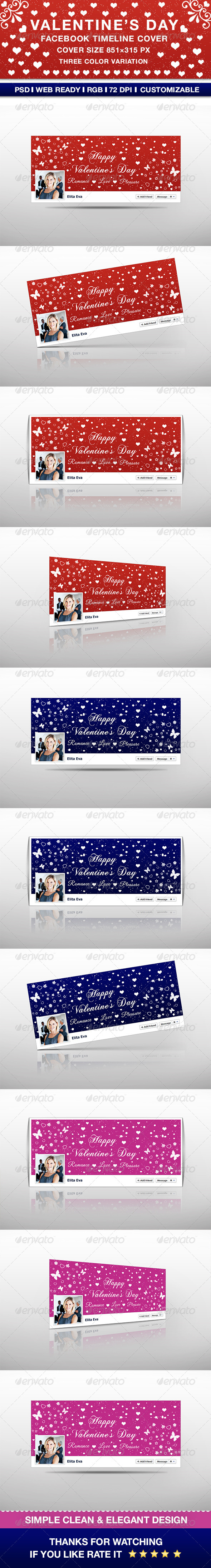 GraphicRiver Valentine s Day Facebook Timeline Cover 6670941