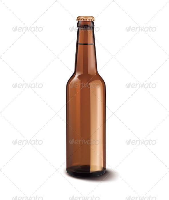 GraphicRiver Beer Bottle Isolated 6671065