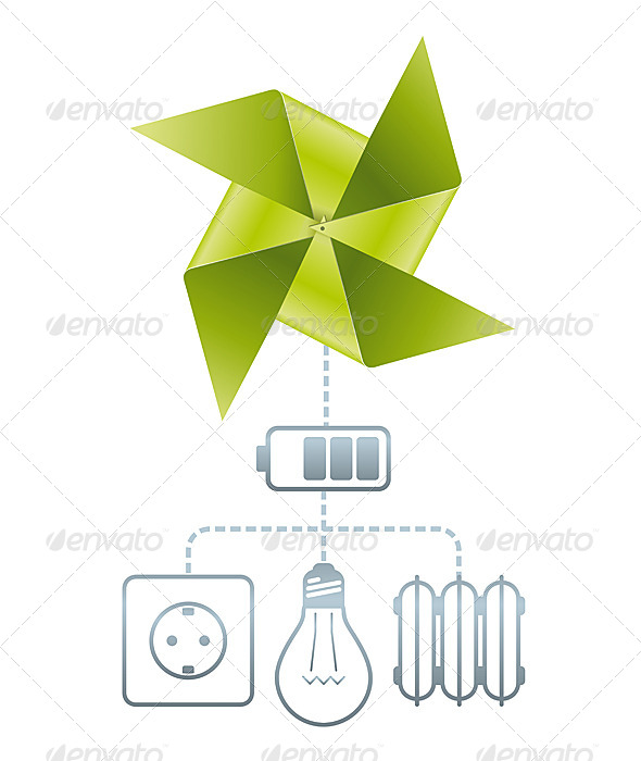 GraphicRiver Use of Wind Energy 6671356