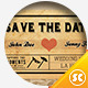 Wedding Card Invitation Old Ticket Style - GraphicRiver Item for Sale