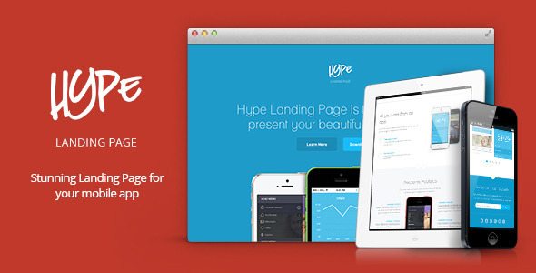 ThemeForest Hype App Landing Page 6671565