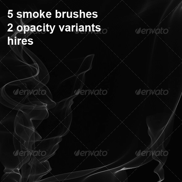 GraphicRiver 5 Photoshop Smoke Brushes 6650019
