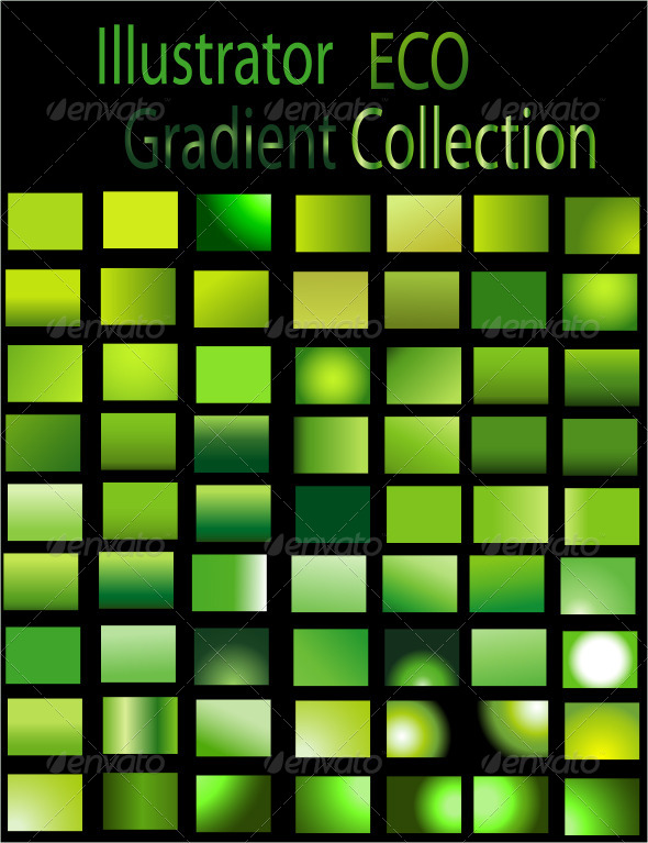 GraphicRiver Eco Illustrator Gradient Collection 6672324