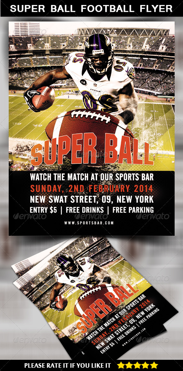 GraphicRiver Super Ball Football Flyer 6668505