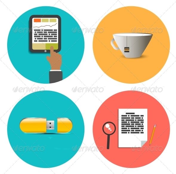 GraphicRiver Set of Office and Business Work Elements 6672368