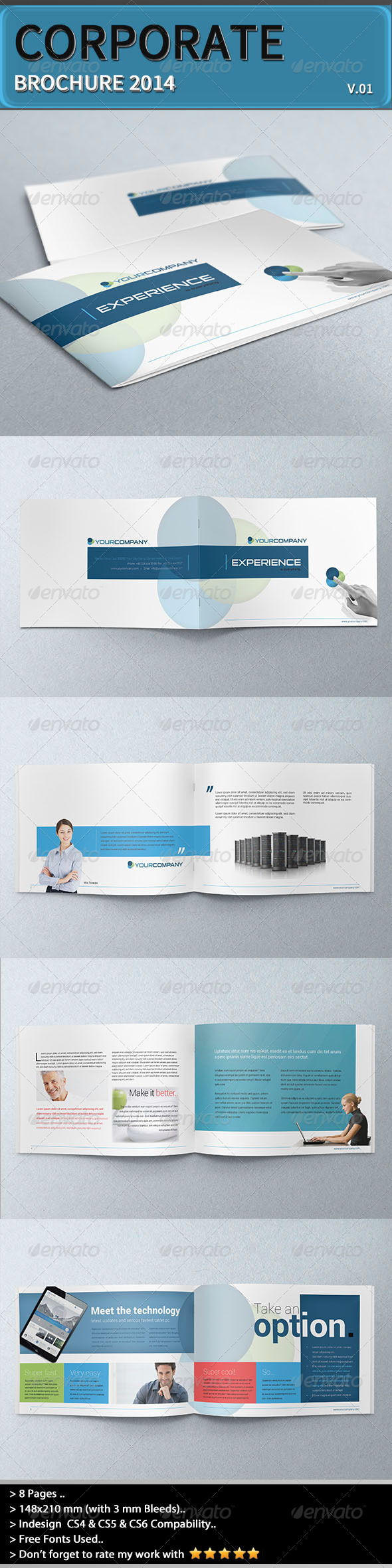 GraphicRiver Corporate Brochure Experience 6672452
