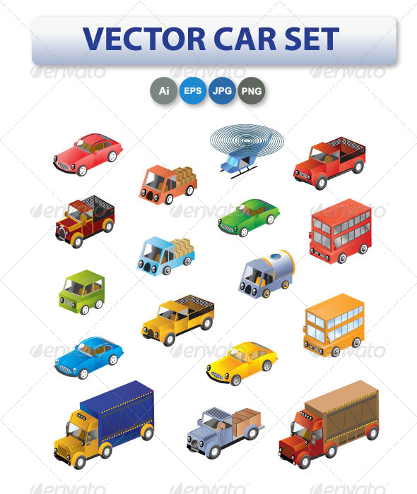 Set of Cars and Trucks