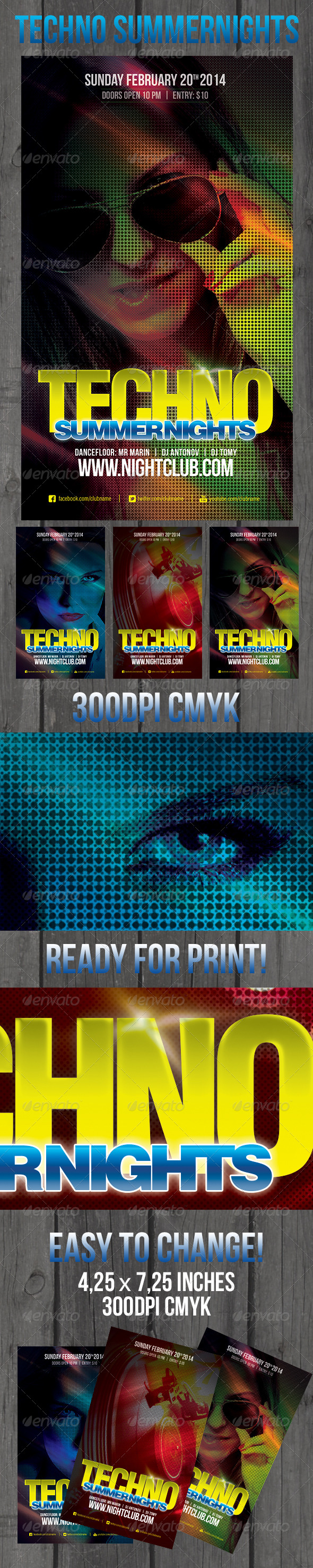 GraphicRiver Techno Summer Nights 6672518