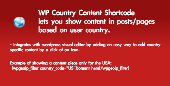 CodeCanyon WP Country Content Shortcode Plugin 6672634