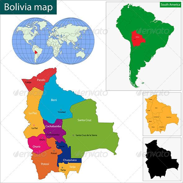 GraphicRiver Bolivia Map 6672809