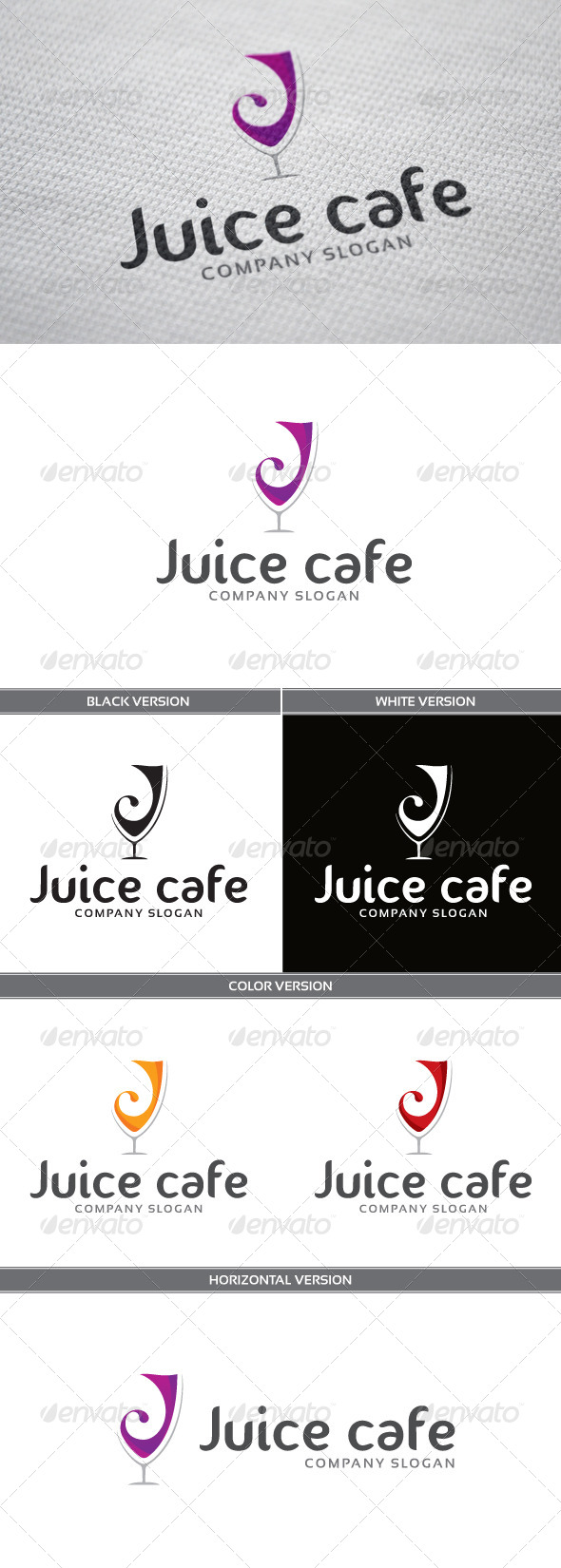 GraphicRiver Juice Cafe Logo 6672979