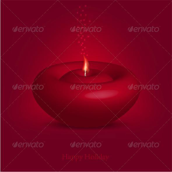 GraphicRiver Candle for Happy Holiday 6527856