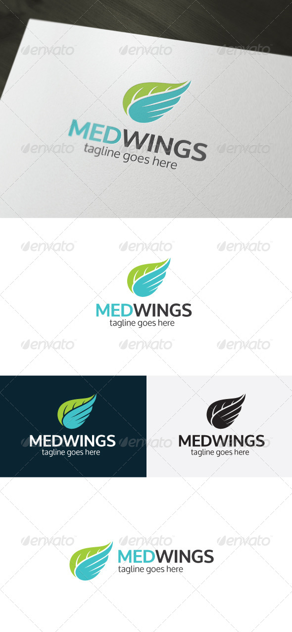 GraphicRiver Med Wings Logo 6673905
