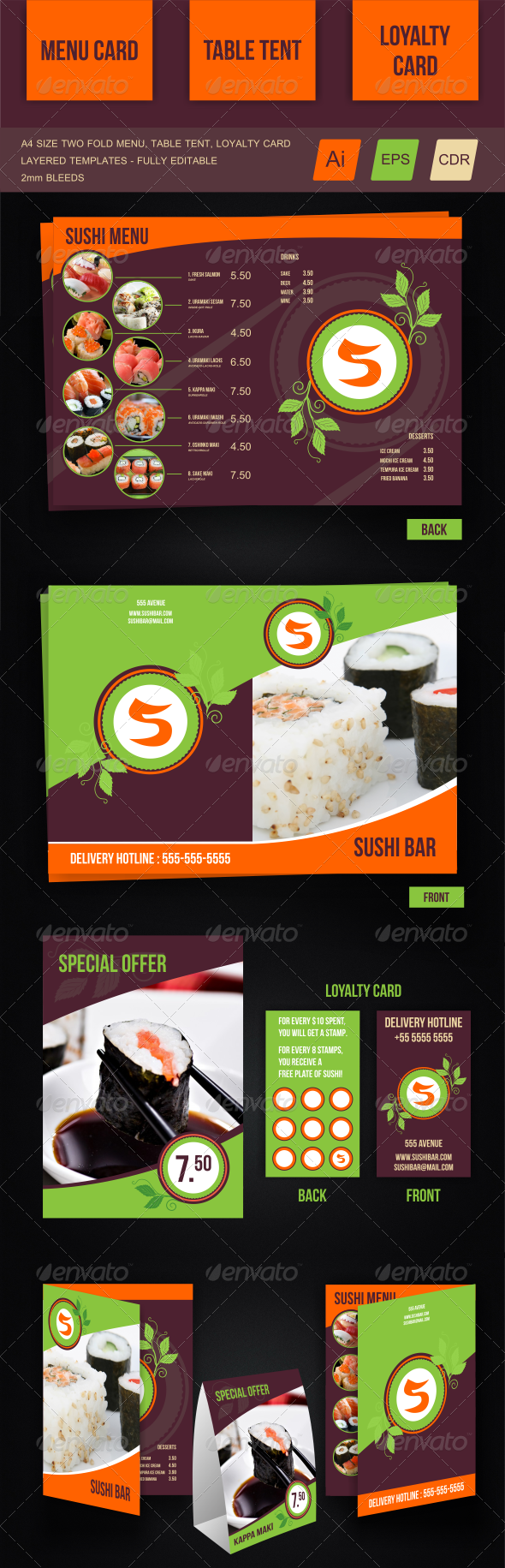 GraphicRiver Sushi Menu Template 6572979