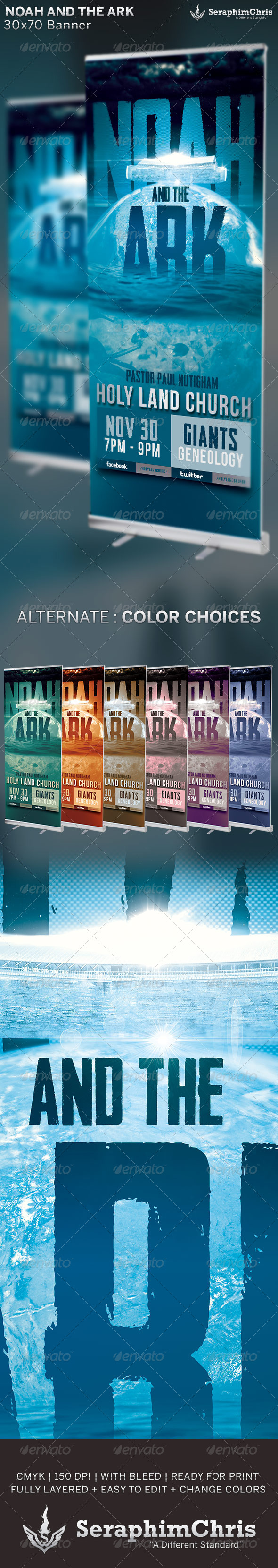GraphicRiver Noah and the Ark Church Banner Template 6674094