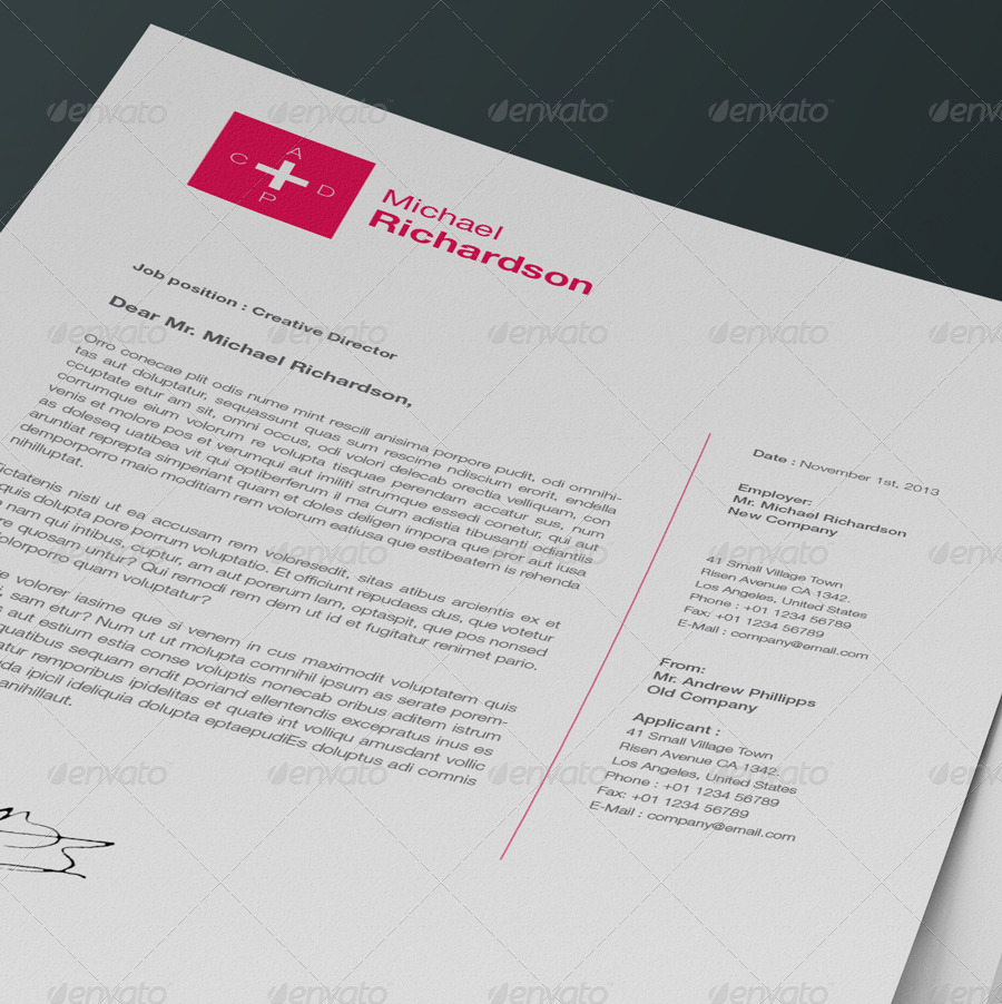 Swiss Resume/CV By Egotype