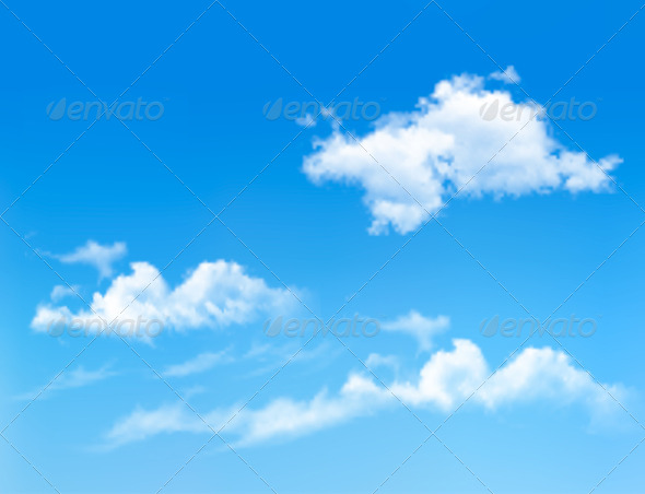 GraphicRiver Blue Sky with Clouds Background 6674406