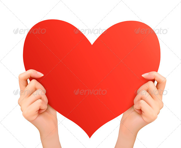 GraphicRiver Two Hands Holding Red Heart 6674420