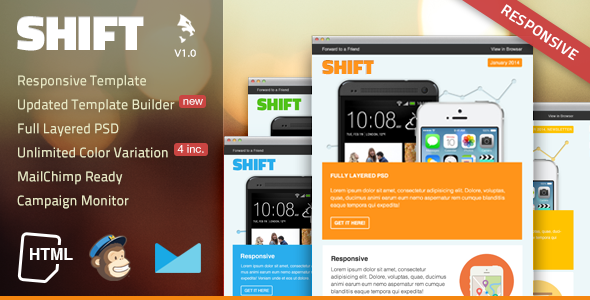 ThemeForest Shift Responsive Email Template 6674575
