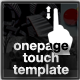OnePage Touch Template - ActiveDen Item for Sale