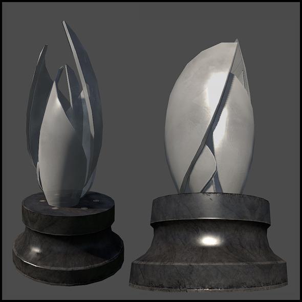 Fancy Glass Sculpture - 3DOcean Item for Sale