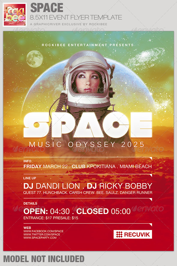 GraphicRiver Space Event Flyer Template 6674825