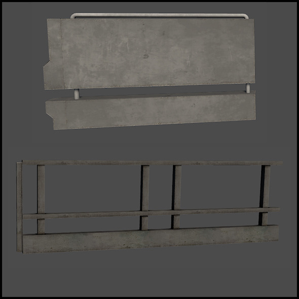 Concrete Railing - 3DOcean Item for Sale