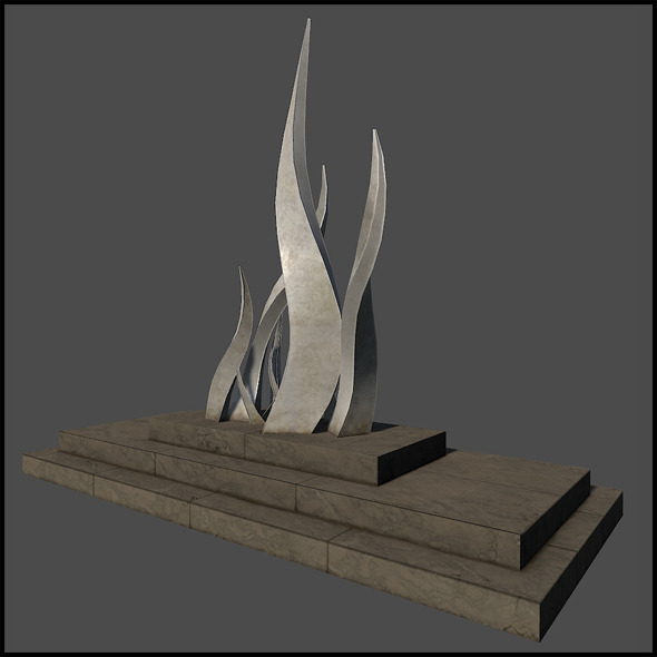 3DOcean Curved Metal Sculpture 6674847