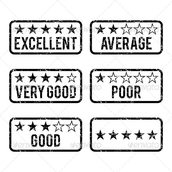 GraphicRiver Review Rating Rubber Stamps 6674848