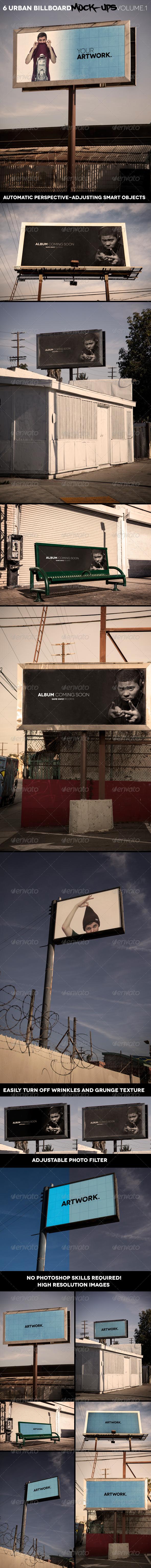 GraphicRiver Urban Billboard Mock-Ups Volume 1 6674882